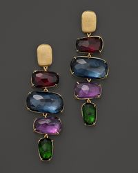 Marco Bicego | Multicolor Murano 18k Gold Drop Earrings With Semi Precious Stones | Lyst