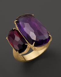 Marco Bicego | Yellow Murano 18k Gold Ring with Rhodalite Garnet and Amethyst | Lyst