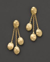 "Marco Bicego | Yellow ""siviglia Collection"" Triple Strand Gold Earrings 