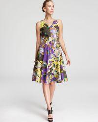 Max Mara Studio Multicolor Saggina Print Dress