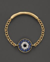 Meira T | Metallic Diamond and 14k Yellow Gold Evil Eye Ring | Lyst