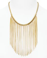 Michael Kors Metallic Fringe Bib Necklace