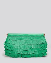 MILLY Green Clutch Nikki Fringe Facile