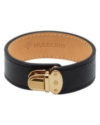Mulberry | Black Polly Push Lock Bracelet | Lyst