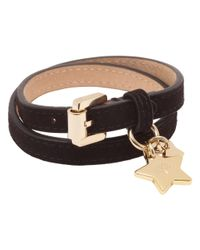 Mulberry Metallic Double Wrap Star Charm Bracelet
