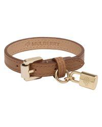 Mulberry | Brown Padlock Charm Bracelet | Lyst