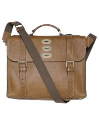 Mulberry Brown Messenger Bag for men