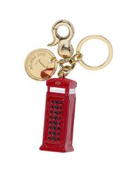 Mulberry Red Telephone Booth Keyring