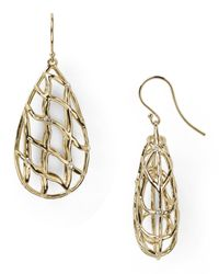 Nadri | Metallic Basketweave Teardrop Earrings | Lyst
