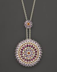 Paul Morelli | Multicolor Large Applique Slider Pendant with Rhodolite Amethyst and Madeira Citrine 24 | Lyst