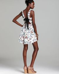 Pjk Patterson J. Kincaid Multicolor Dress Simone Tie Back Butterfly