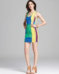 Plenty by Tracy Reese Black Quotation Dress Color Block Shift