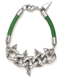 Rebecca Minkoff | Metallic Pavé Link Bracelet | Lyst