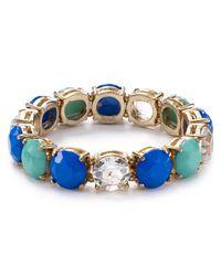 R.j. Graziano Blue Multi Stone Single Strand Bracelet
