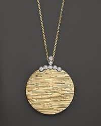 Roberto Coin | Yellow Diamond Elephantino Circle Necklace In 18k Gold, 16"