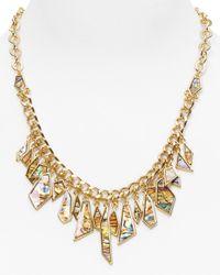Rose Pierre - Metallic Sunset Tides Bezeled Abalone Shard Necklace 16 - Lyst