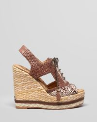 Sam Edelman Yellow Open Toe Lace Up Wedge Sandals Tinley