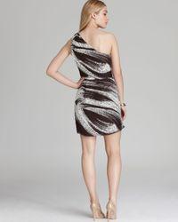 Shoshanna Black One Shoulder Dress Julie Printed