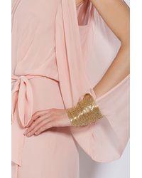 Temperley London | Pink Chiffon Split Shoulder Dress | Lyst