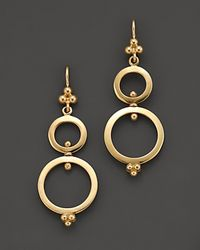 Temple St. Clair | Metallic 18k Yellow Gold Double Ring Earrings | Lyst