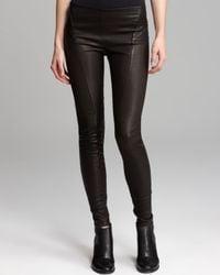 Theory Black Leather Leggings Miana Danish