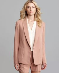 Theory Natural Blazer Dalaine Madera One Button
