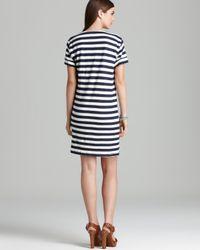 Theory Blue Tee Dress Karelo L Zephyr Stripe Wash