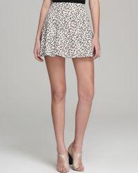 Tibi Multicolor Skirt Yoked Leopard Print