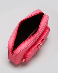 Tory Burch Pink Cosmetic Case Bow Twin