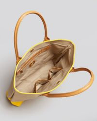 Tory Burch Yellow Tote Pierson Dipped Canvas Jaden