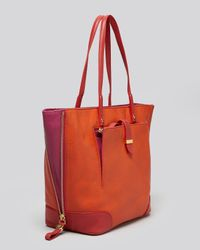 Tory Burch Orange Tote Clay Eastwest Small