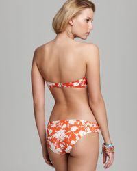Tory Burch Red Lanai Bandeau Bikini Top