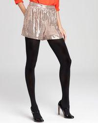 Trina Turk Purple Shorts Angel Sequin Jersey