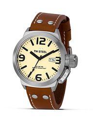 TW Steel Metallic Canteen Stainless Steel Watch, 45mm for men