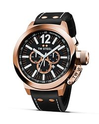 TW Steel Gray Ceo Canteen Rose Gold Pvd Watch, 45mm for men