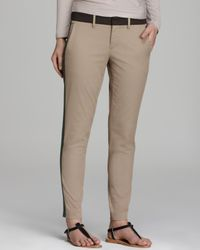 Vince Natural Pants Tricolor Strapping