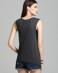 Wildfox Black Tank Celestial Cats Muscle
