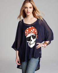 Wildfox Black Pirate Love Drapey Tee