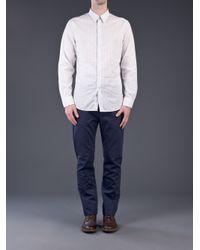 Acne Studios White Striped Shirt for men