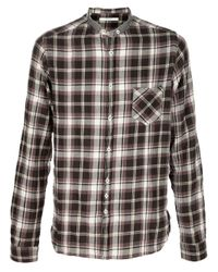 Aglini | Brown Check Shirt for Men | Lyst