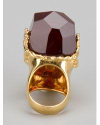 Alexander McQueen   Metallic Skull Ring   Lyst