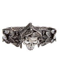 Alexander McQueen | Metallic Winged Skull Ring | Lyst
