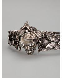 Alexander McQueen - Metallic Winged Skull Ring - Lyst