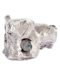 Alice Waese | Metallic Carved Chunky Ring Diamond for Men | Lyst