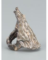 Alice Waese - Metallic Tall Carved Ring for Men - Lyst