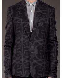 Ann Demeulemeester - Gray Patterned Blazer for Men - Lyst