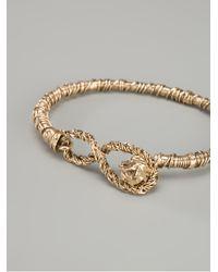 Aurelie Bidermann Metallic Golden Thread Bracelet