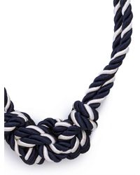 BaubleBar | Blue Navy Bowline Necklace | Lyst