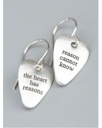 Bjorg - Metallic The Heart Has Its Reasons Earrings - Lyst