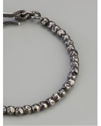Bottega Veneta - Metallic Beaded Bracelet for Men - Lyst